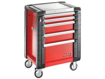 JET.5M3 5 Drawer Roller Cabinet Red
